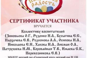 Благодарности педагогу Либман Ольге Анатольевне